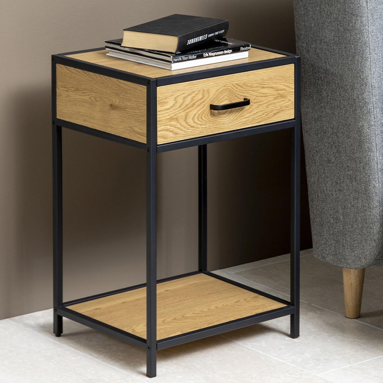 Factory Table de chevet. Table de chevet Factory bois et métal Offrez-vous cette jolie table de chevet industrielle. Elle saura apporter une touche te